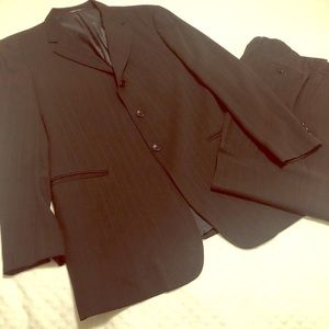 ARMANI Men's Pinstripe Wool Suit - Sz: 44L